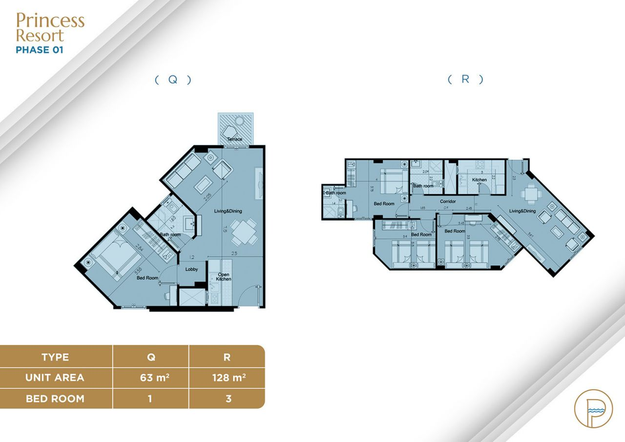 Floor Plan Unit Type Q+R
