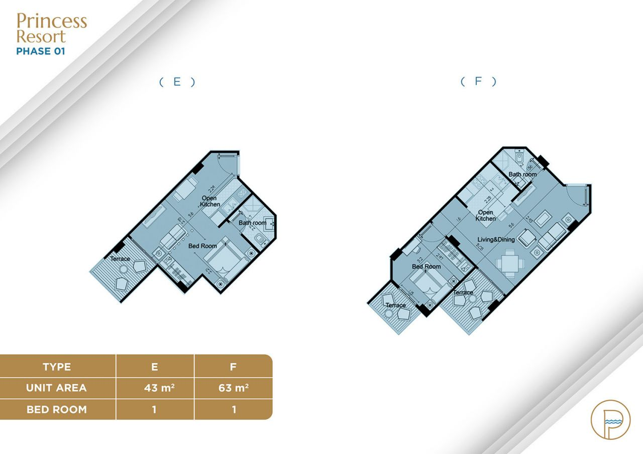 Floor Plan Unit Type E+F