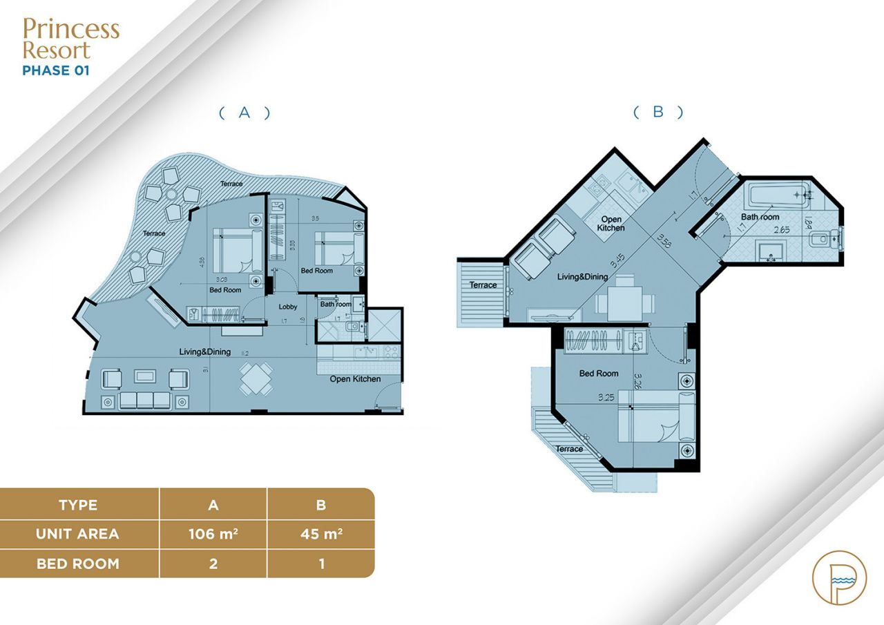 Floor Plan Unit Type A +B