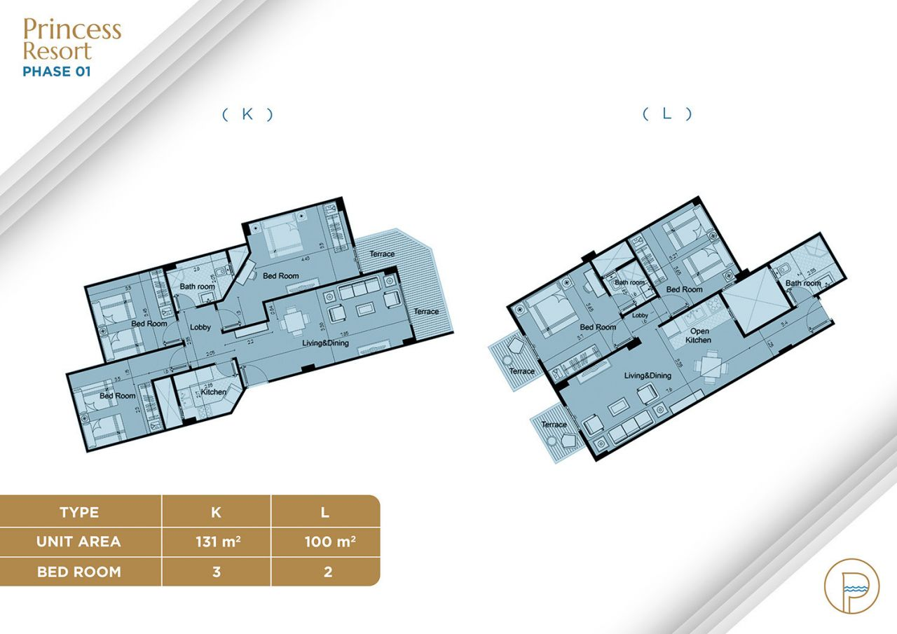 Floor Plan Unit Type K+L
