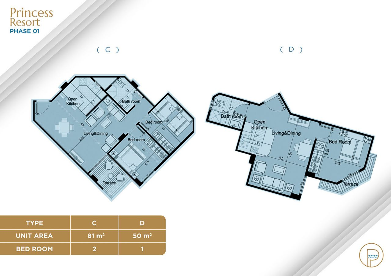Floor Plan Unit Type C+D